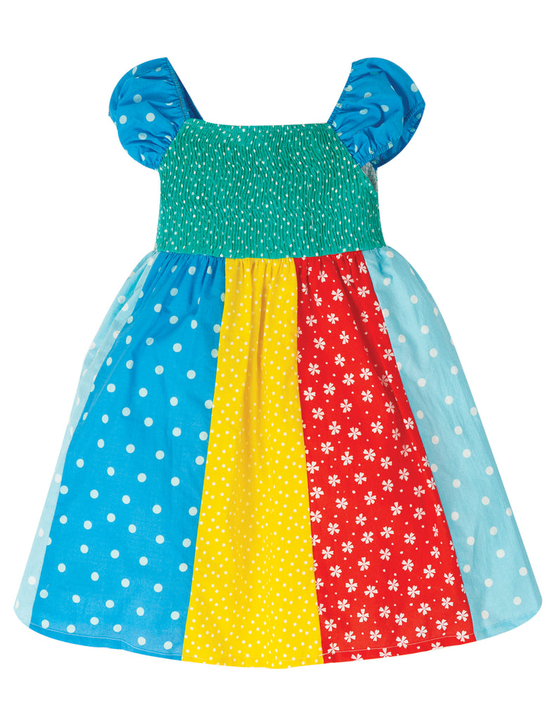Frugi Kiki Hotchpotch Dress - Rainbow Hotchpotch