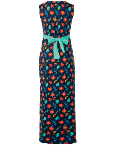 Frugi Summer Maxi Dress - Indigo Floral