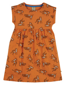 Frugi Fran Jersey Dress - Marigold Tigers