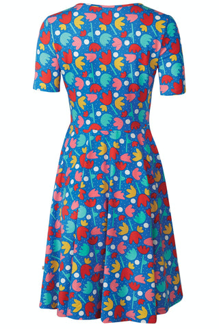 Frugi Grown Ups Skater Dress - Lotus Bloom