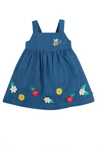 Frugi Hallie Linen Dress - India/Ink Flowers