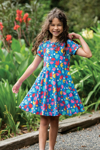 Frugi Spring Skater Dress - Lotus Bloom