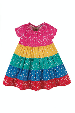 Frugi Dorothy Twirly Dress - Rainbow