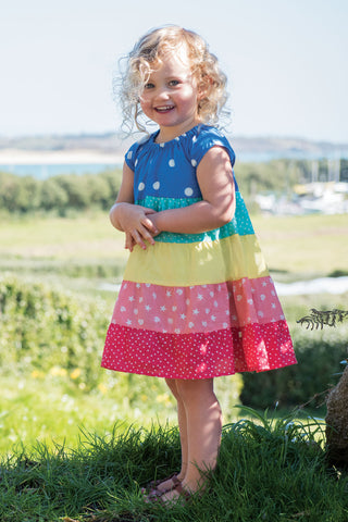 Frugi Dorothy Twirly Dress - Rainbow Hotchpotch