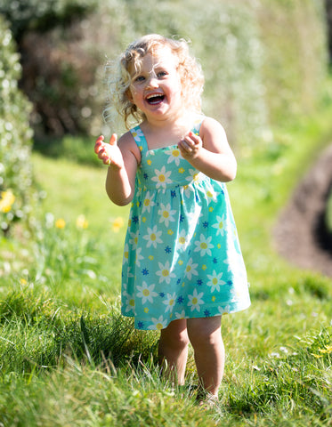 Image of Frugi Jess Party Dress - Daffodil Days - Tilly & Jasper