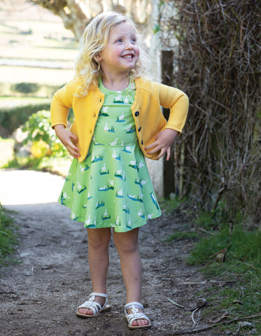 Image of Frugi Little Spring Skater Dress - Duck Ponds - Tilly & Jasper