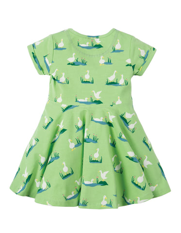 Frugi Little Spring Skater Dress - Duck Ponds - Tilly & Jasper