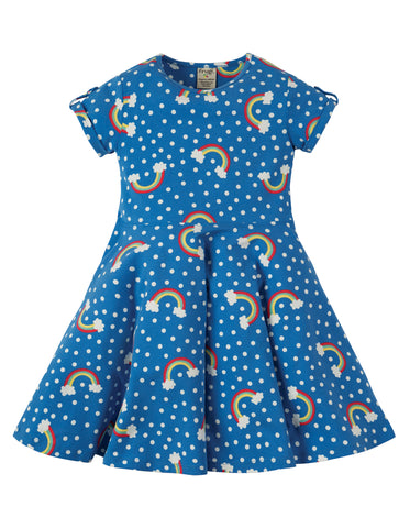 Frugi Spring Skater Dress - Over The Rainbow - Tilly & Jasper