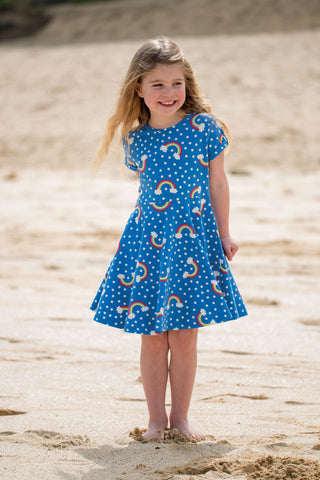 Frugi Spring Skater Dress - Over The Rainbow