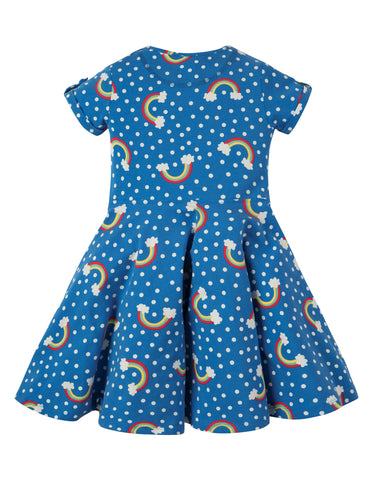 Image of Frugi Spring Skater Dress - Over The Rainbow - Tilly & Jasper