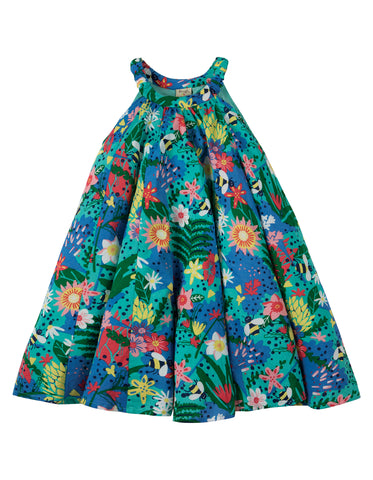Image of Frugi Tabitha Trapeze Dress - Hothouse Floral - Tilly & Jasper