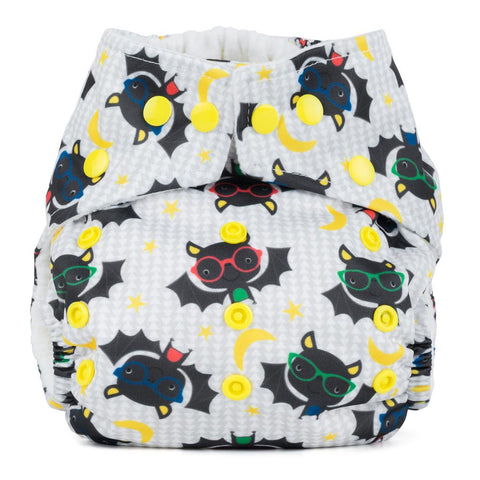 Baba & Boo One Size Nappy - Bats - Tilly & Jasper
