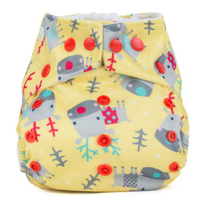 Baba & Boo One Size Nappy - Reindeers - Tilly & Jasper
