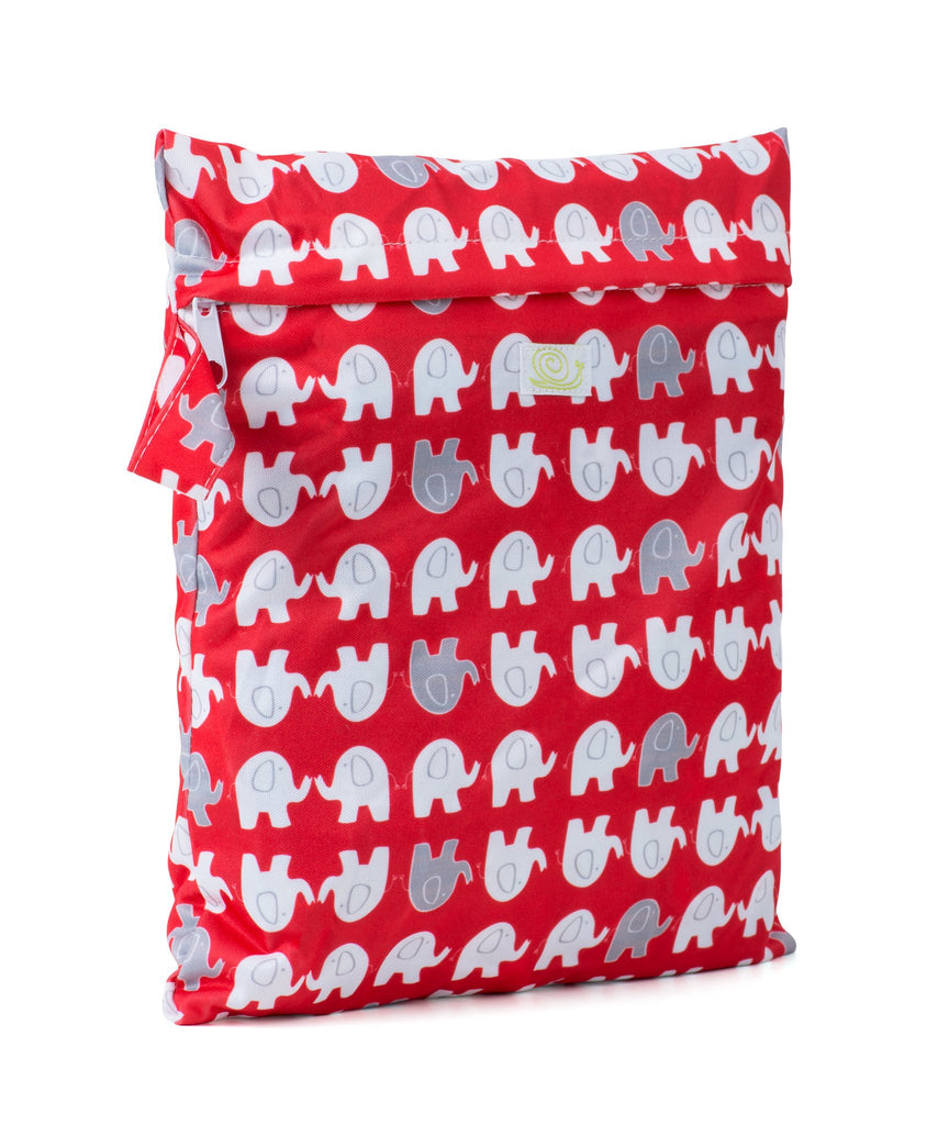 Baba & Boo Elephants Reusable Nappy Storage Bag (Small)