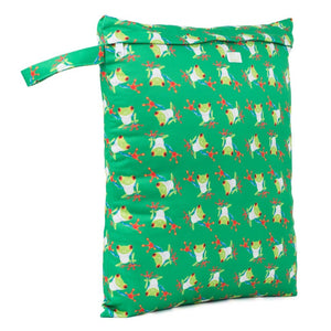 Baba & Boo Frogs Reusable Nappy Storage Bag (Medium)