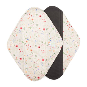 Baba & Boo Reusable Extra Large Sanitary Pads - Wildflowers - 2 Pack - Tilly & Jasper