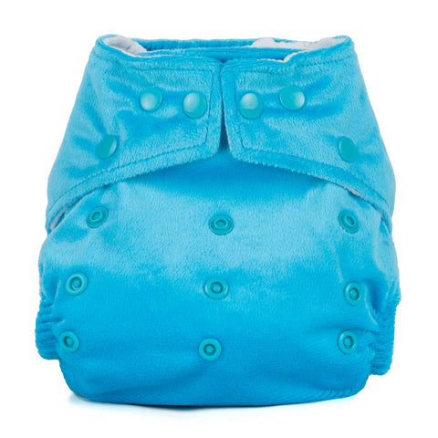 Baba & Boo One Size Minky Nappy - Azure Blue