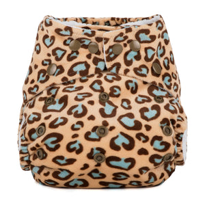 Baba & Boo One Size Minky Nappy - Leopard