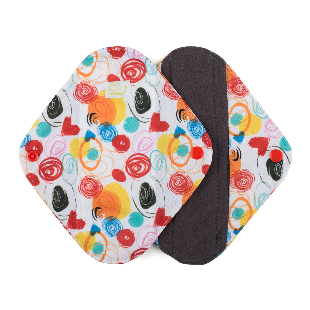 Baba & Boo Reusable Medium Sanitary Pads - Doodles - 2 Pack - Tilly & Jasper