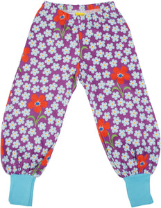 DUNS Adult Baggy Pants - Flower Orchid