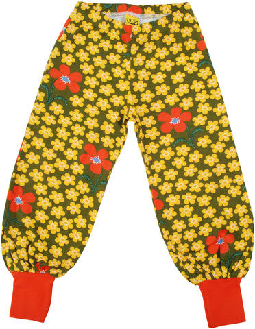 DUNS Baggy Pants - Flower Olive