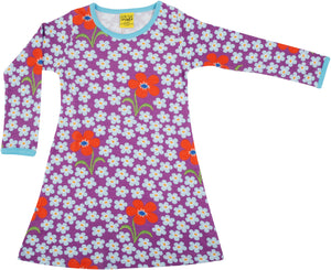 DUNS Long Sleeve Dress - Flower Orchid