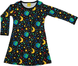 DUNS Long Sleeve Dress - Mother Earth Black