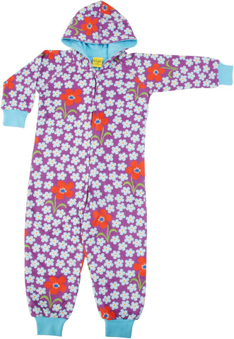 DUNS Lined Suit W Hood - Flower Orchid
