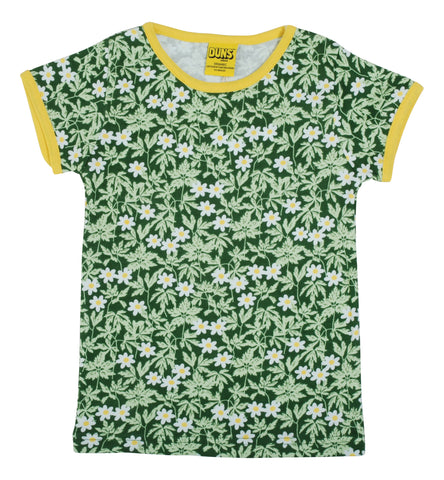 DUNS Short Sleeve Top -  Wood Anemone - Green