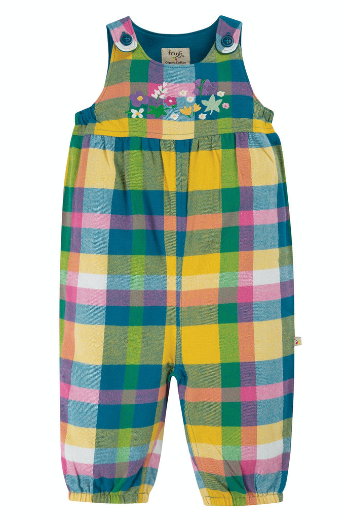Frugi Cleo Check Dungaree -  Bumble Bee Check