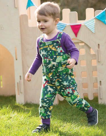 Image of Frugi Parsnip Dungaree - Scots Pine Fairytale