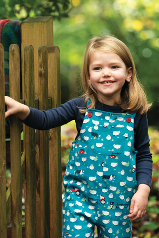 Frugi Parsnip Dungaree -  Sheepdogs