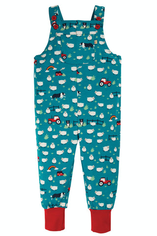 Image of Frugi Parsnip Dungaree -  Sheepdogs