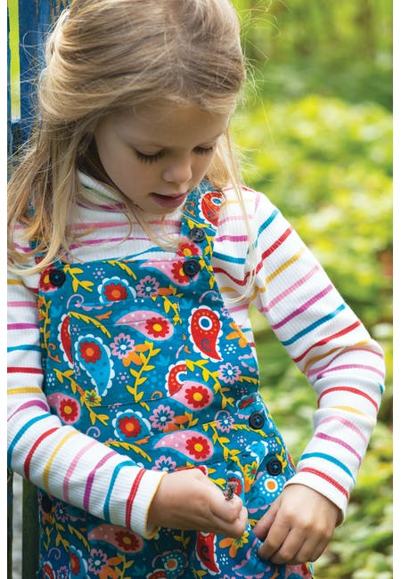 Frugi Peggy Cord Playsuit - Pixie Paisley