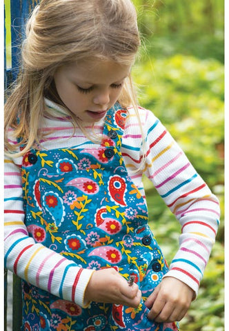 Image of Frugi Peggy Cord Playsuit - Pixie Paisley