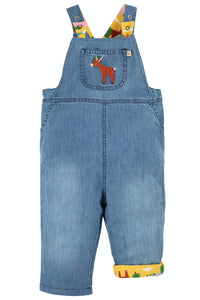 Frugi Sonny Reversible Dungaree - Chambray/Deer