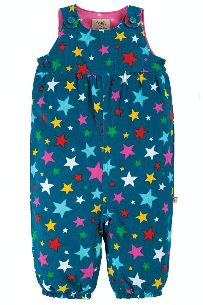 Frugi Willow Cord Dungaree - Rainbow Stars