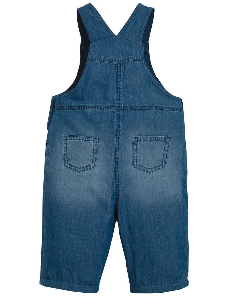 Frugi Hopscotch Dungaree - Light Wash Denim/Truck - Tilly & Jasper