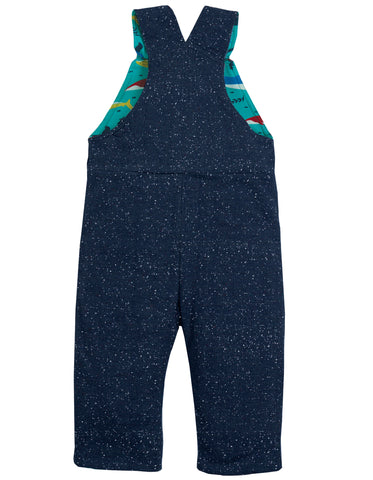 Image of Frugi Reese Reversible Dungaree - Splash/Boat