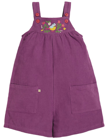 Frugi Peggy Cord Playsuit - Amethyst/Finch Floral - Tilly & Jasper