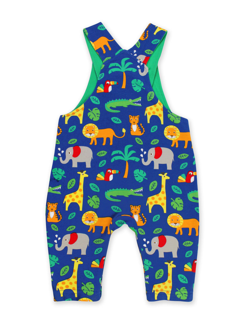 Toby Tiger Organic Jungle Print Dungarees