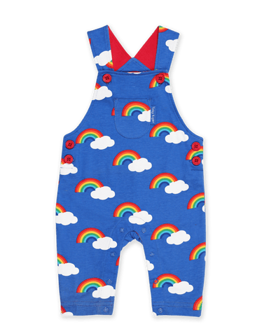 Image of Toby Tiger Multi Rainbow Print Dungarees