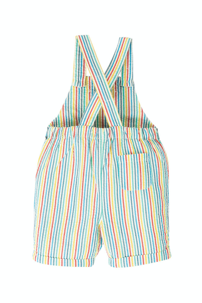 Frugi Godrevy Dungaree -  Multi Seersucker Stripe