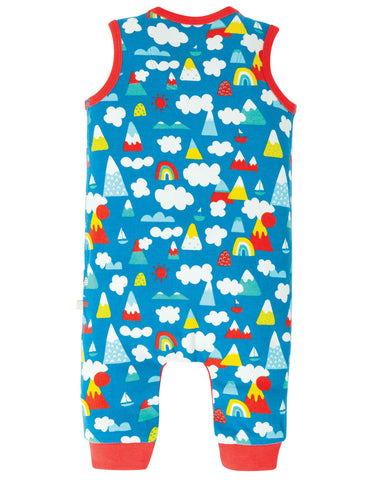 Frugi Kneepatch Dungaree - Climb A Rainbow