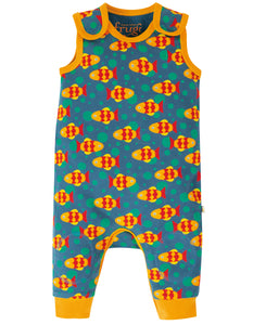 Frugi Kneepatch Dungaree - Koi Joy