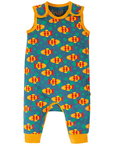 Image of Frugi Kneepatch Dungaree - Koi Joy
