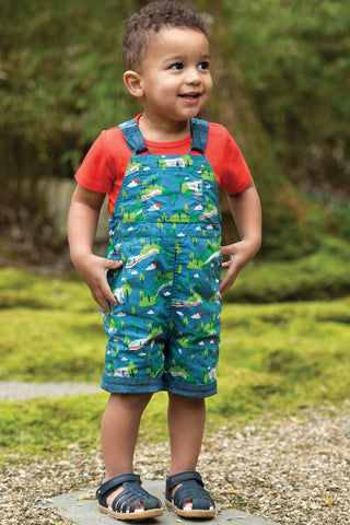 Image of Frugi Rory Reversible Dungaree - Bullet Train