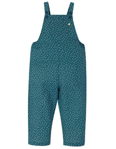 Frugi Lexi Linen Dungaree - Steely Blue Scatter Spot
