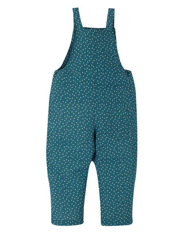 Image of Frugi Lexi Linen Dungaree - Steely Blue Scatter Spot