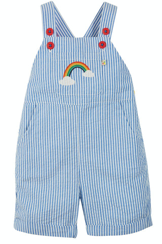 Image of Frugi Godrevy Dungaree - Cobalt Stripe/Rainbow